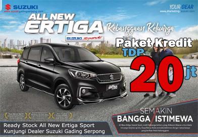 Paket Kredit TDP 20jt Suzuki All New Ertiga Sport
